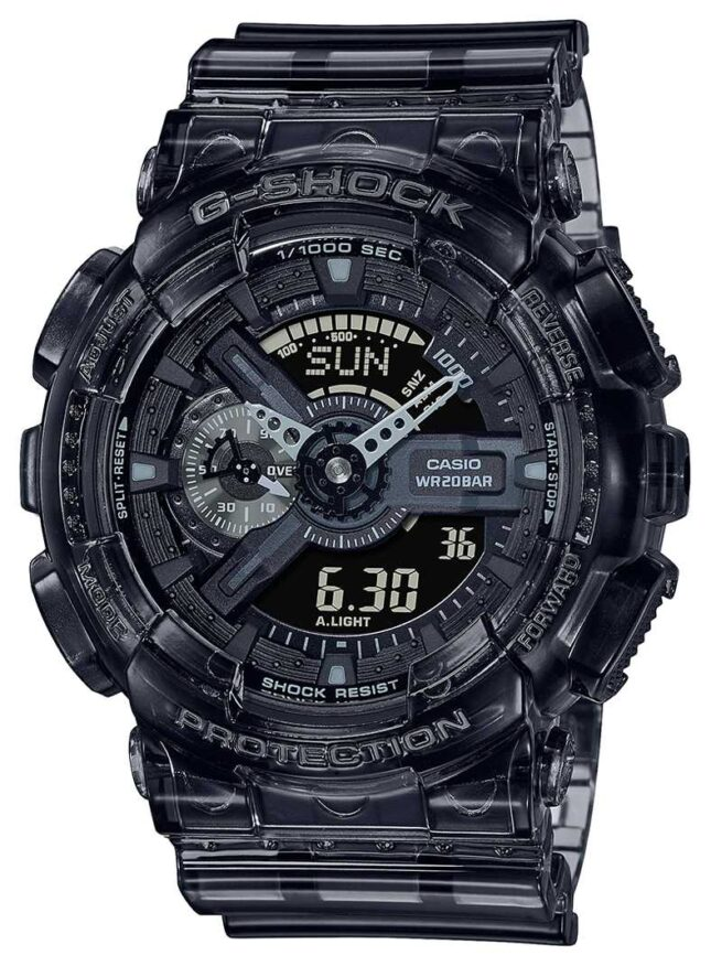 Casio G-Shock | Skeleton Grey Series | Light Grey Transparent Resin Strap | Grey Dial GA-110SKE-8AER