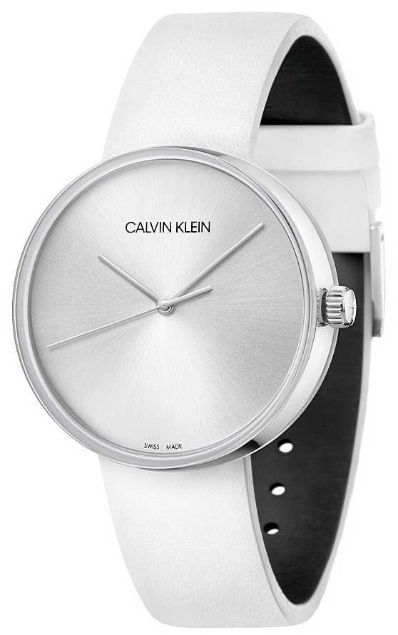 Calvin Klein Women's White Leather Strap | Silver Dial KBL231L6
