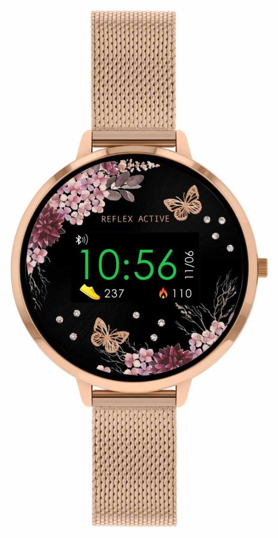Reflex Active Series 3 Smart Watch | Rose Gold Stainless Steel Mesh  Strap RA03-4038