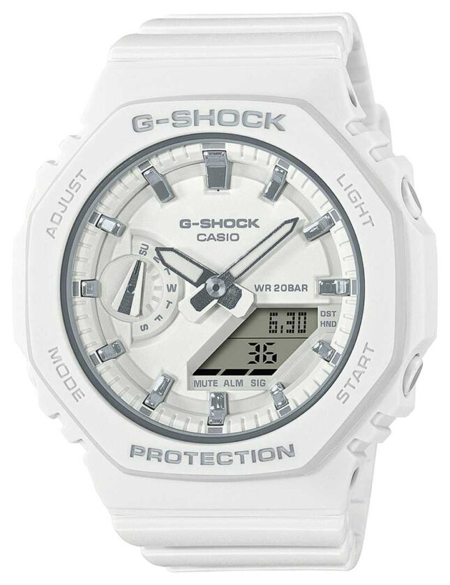 Casio Mid Sized G-Shock | White Resin Strap | White Dial GMA-S2100-7AER