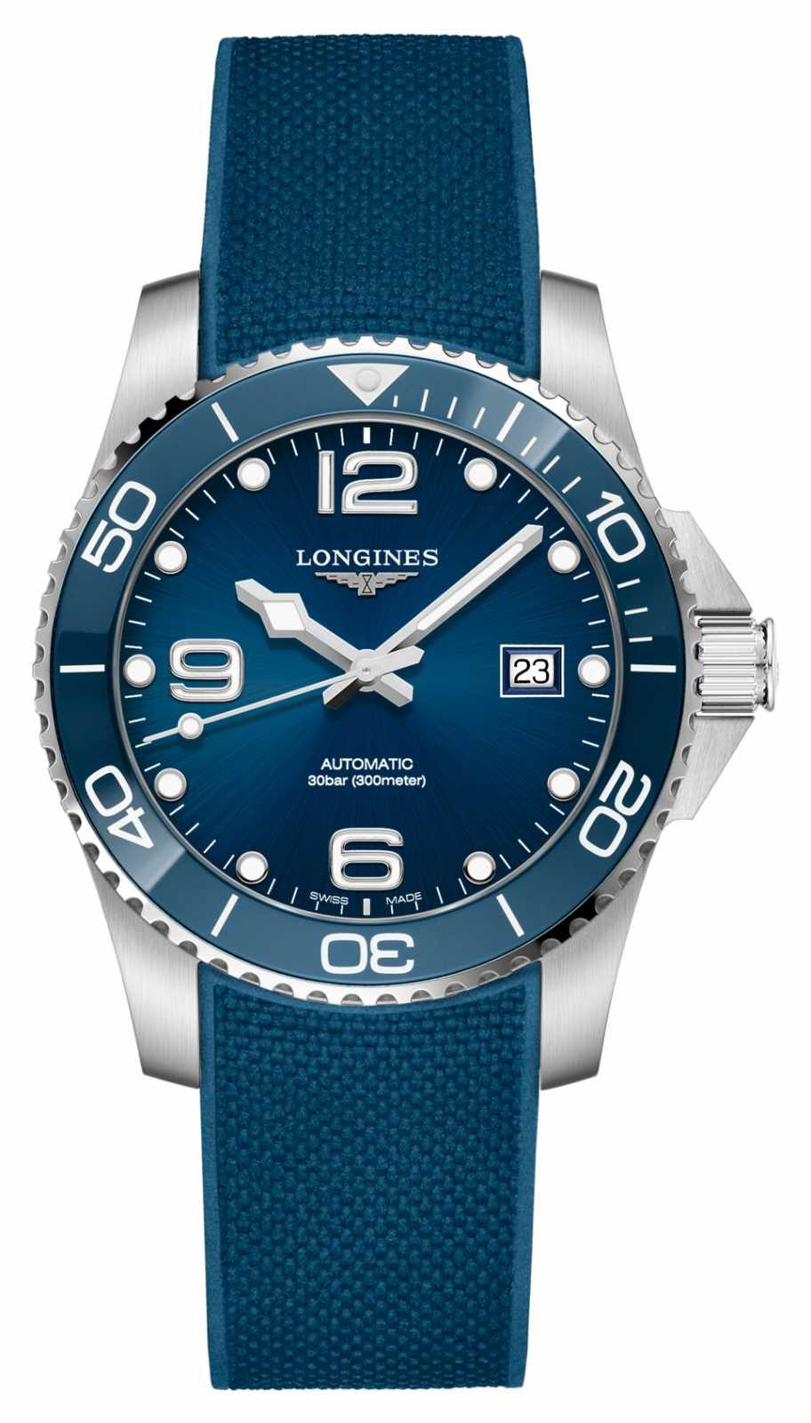 Longines Men's HydroConquest Blue Strap Automatic 41mm L37814969