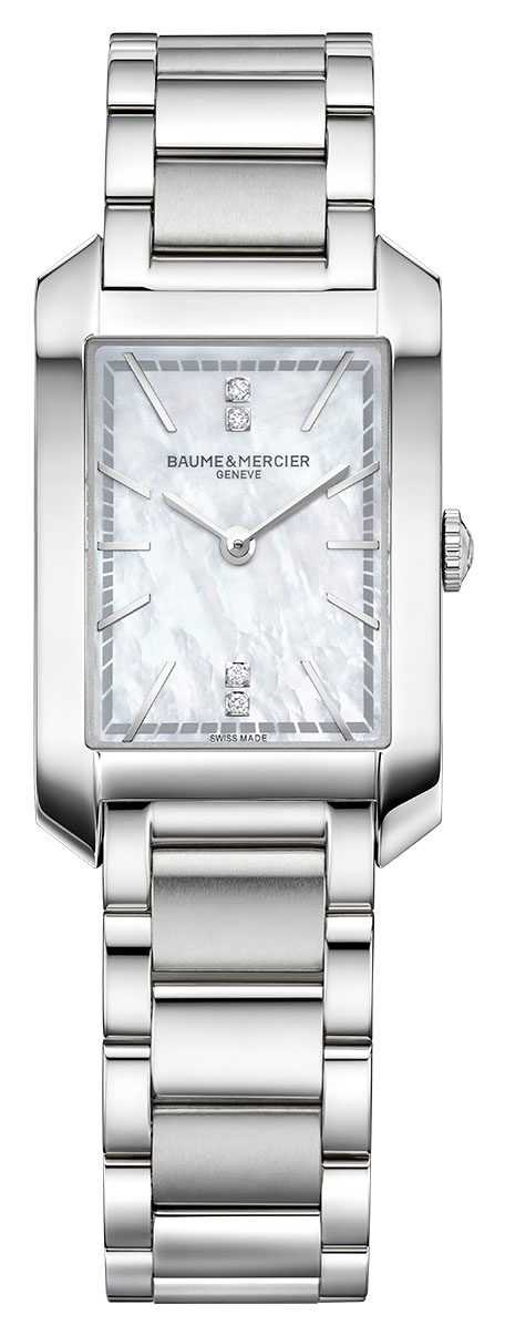 Baume & Mercier lady Hampton   Mother Of Pearl Dial   Stainless Steel M0A10474
