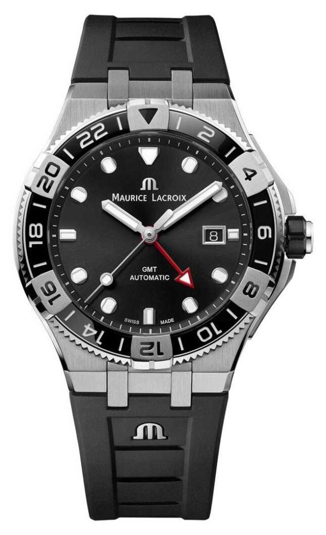 Maurice Lacroix Aikon Venturer GMT 43mm | Black Rubber Strap | AI6158-SS001-330-2