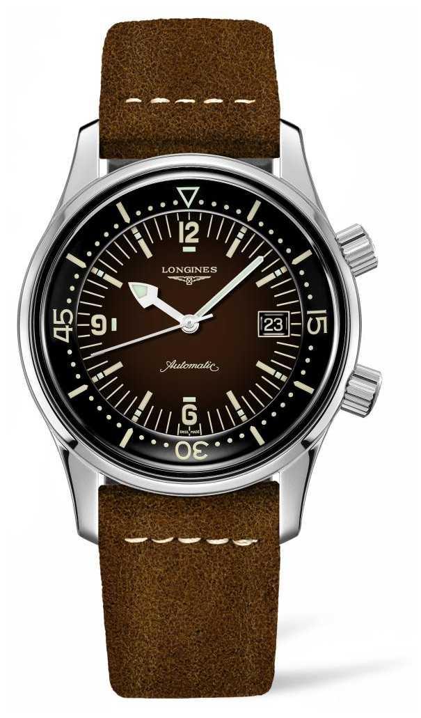 Longines Heritage Legend Diver Brown Leather Strap L37744602