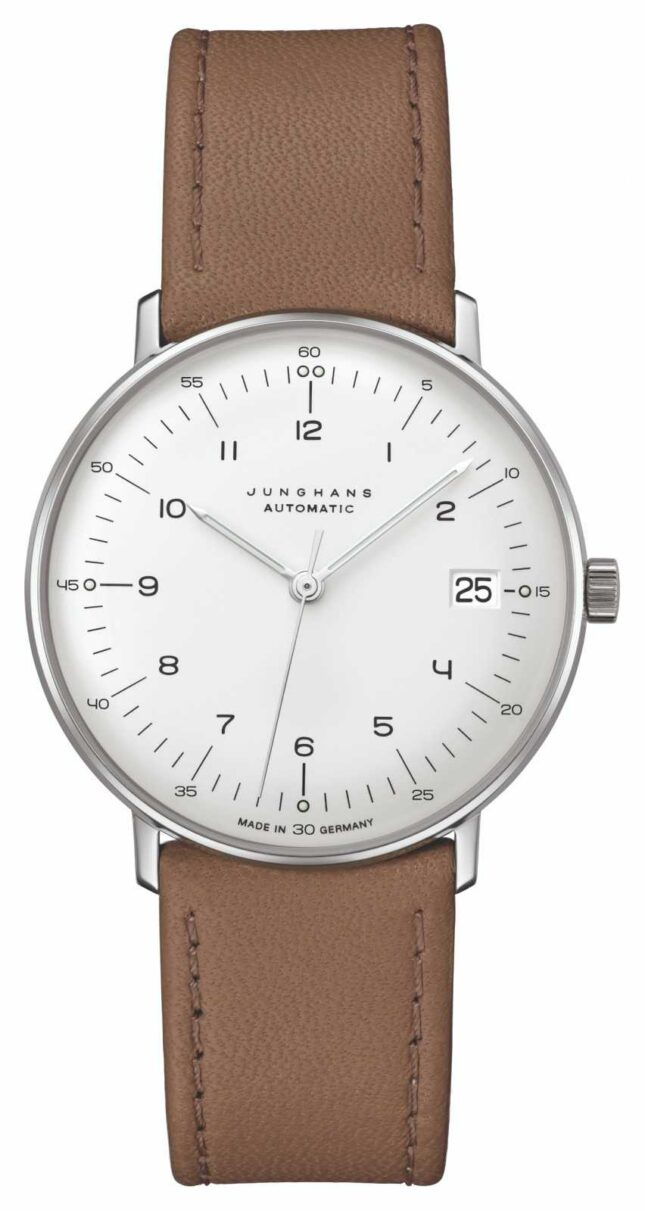 Junghans Max Bill | Kleine | Automatic| Brown Leather Strap 27/4107.02