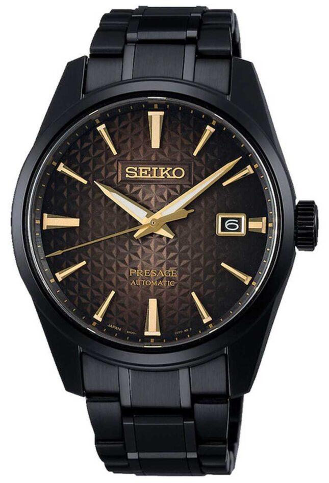 Seiko Presage Sharp Edged Tokyo Dawn LTD Edition | Black Stainless Steel Bracelet | SPB205J1