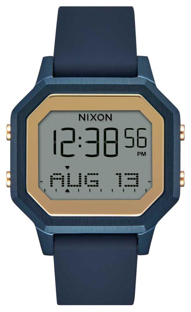 Nixon Siren SS Navy Silicone Strap Watch A1211-1859