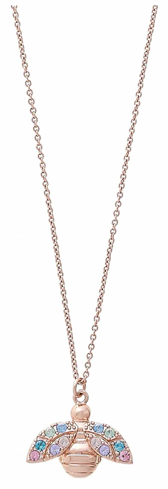 Olivia Burton Rainbow Bee Rose Gold Pendant Necklace OBJAMN136