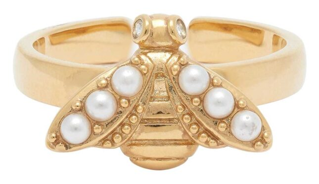 Olivia Burton Pearl Bee Ring Gold OBJAMR109