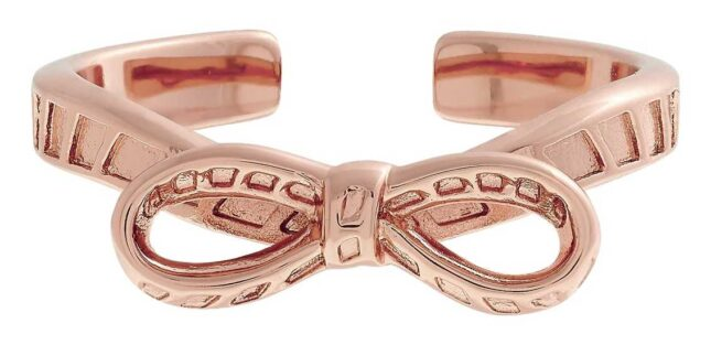 Olivia Burton Bow Ring Rose Gold OBJVBR17