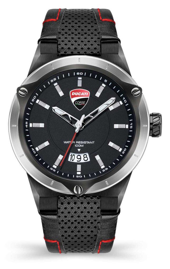 Ducati DT006   Black Dial   Black Leather Strap DU0072-3HC.C02