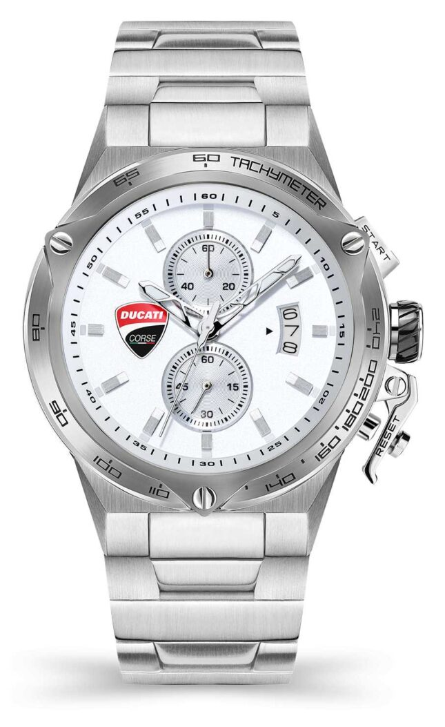 Ducati DT003   Chronograph   Silver Dial   Stainless Steel Bracelet DU0066-CCHB.E02
