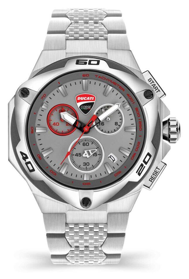 Ducati DT002 | Chronograph | Grey Dial | Stainless Steel Bracelet DU0065-ECHB.B03