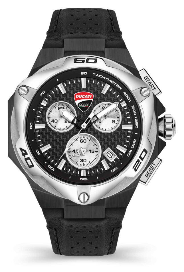 Ducati DT002 | Chronograph | Black Dial | Black Leather Strap DU0065-CCH.A01