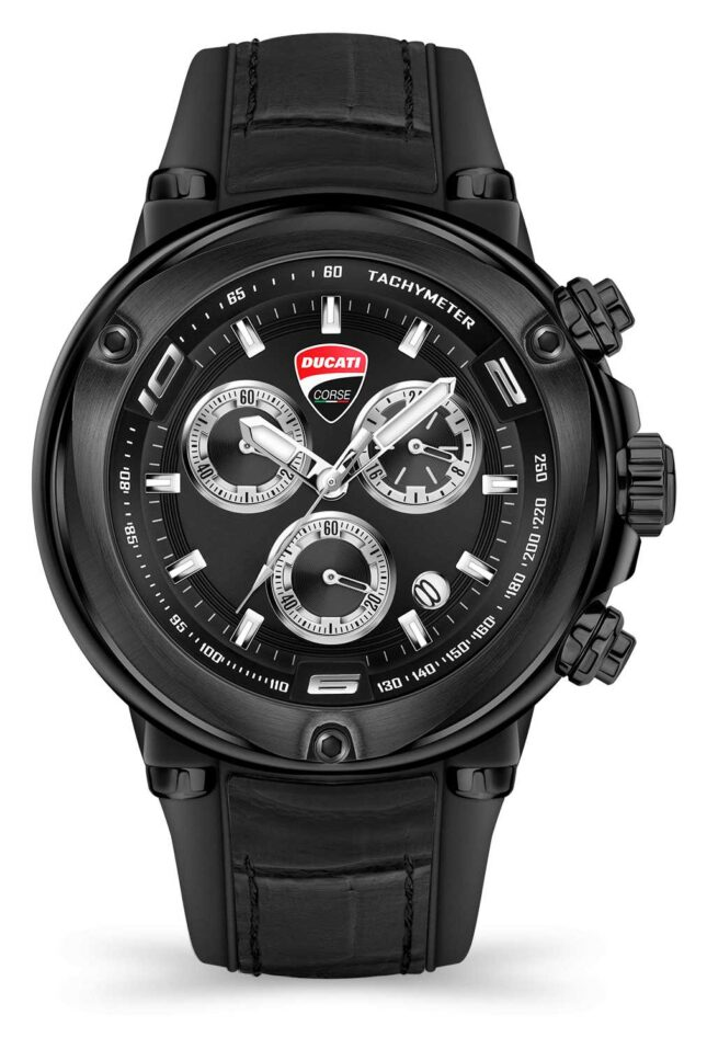 Ducati DT001   Chronograph   Black Dial   Black Silicone Strap DU0064-CCH.A02