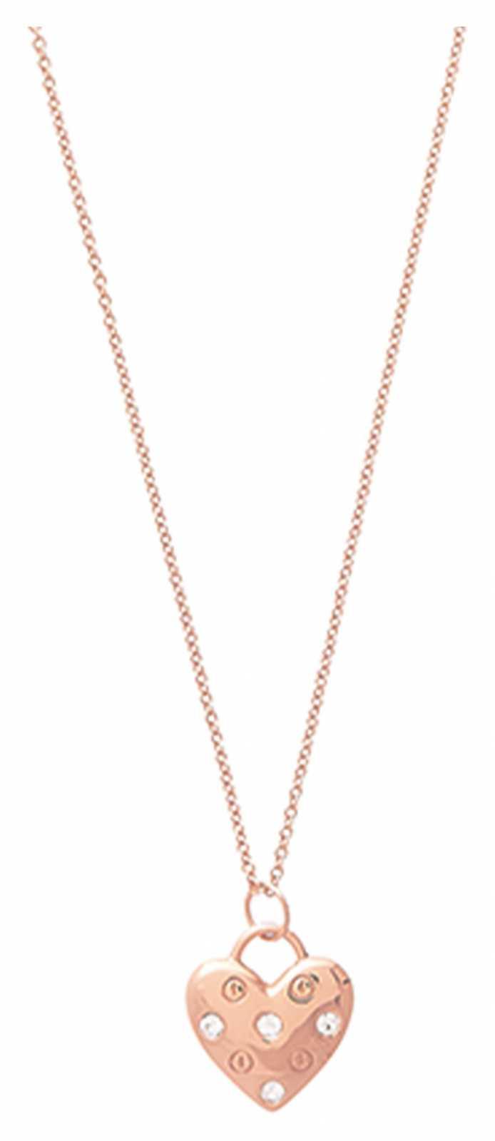 Olivia Burton Classic Heart Rose Gold Necklace OBJSAN02