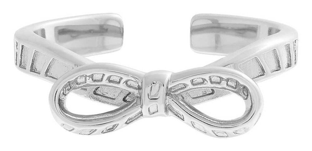 Olivia Burton Women's   Silver Plated Bow Ring OBJVBR19