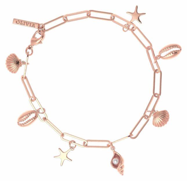 Olivia Burton Under The Sea Charm Bracelet Rose Gold OBJSCB10