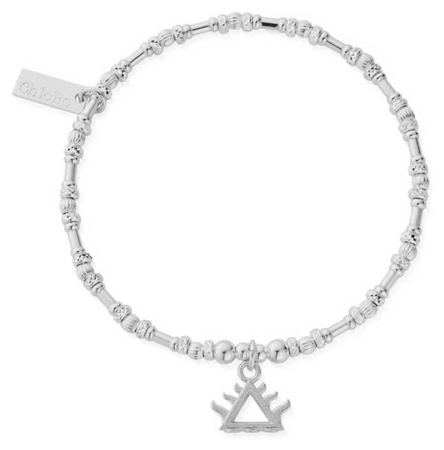 ChloBo Noodle Bead Fire Bracelet | Sterling Silver SBNB3102
