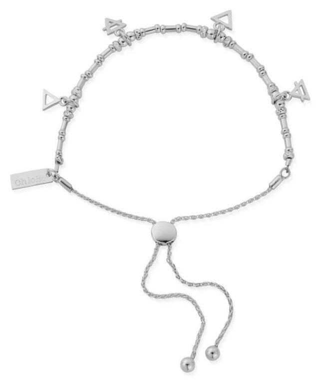 ChloBo Multi Charm Elements Adjuster Bracelet | Sterling Silver SBAMUL4