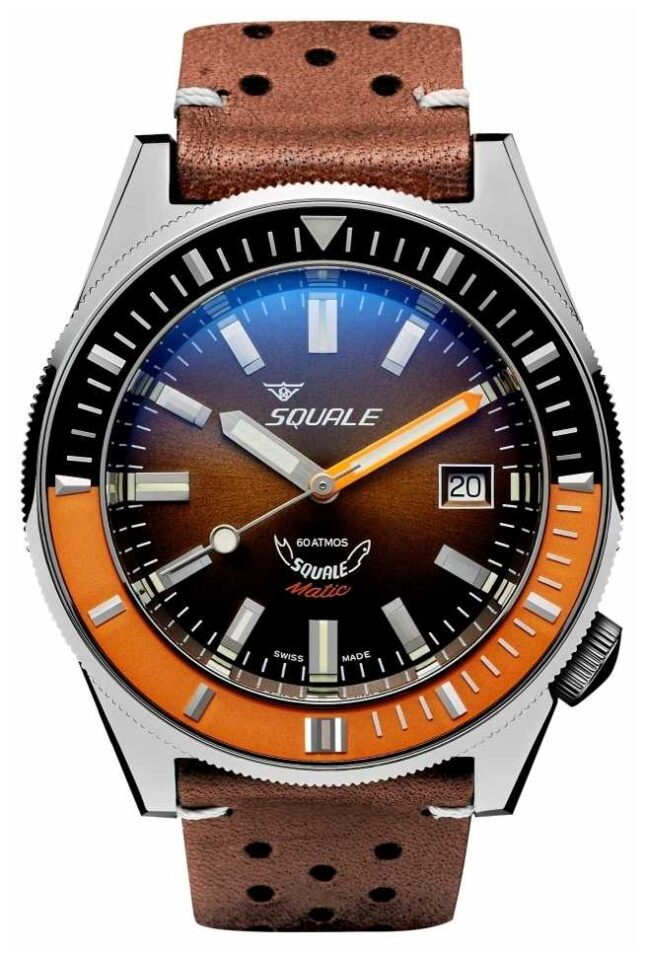 Squale MATIC CHOCOLATE LEATHER   Automatic   Brown Sunray Dial   Brown Leather Strap MATICXSD.PTS-CINU1565GD