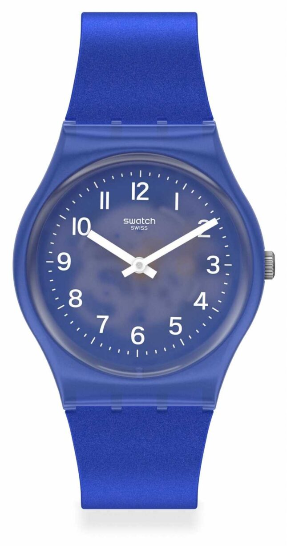 Swatch BLURRY BLUE | Blue Silicone Strap | GL124