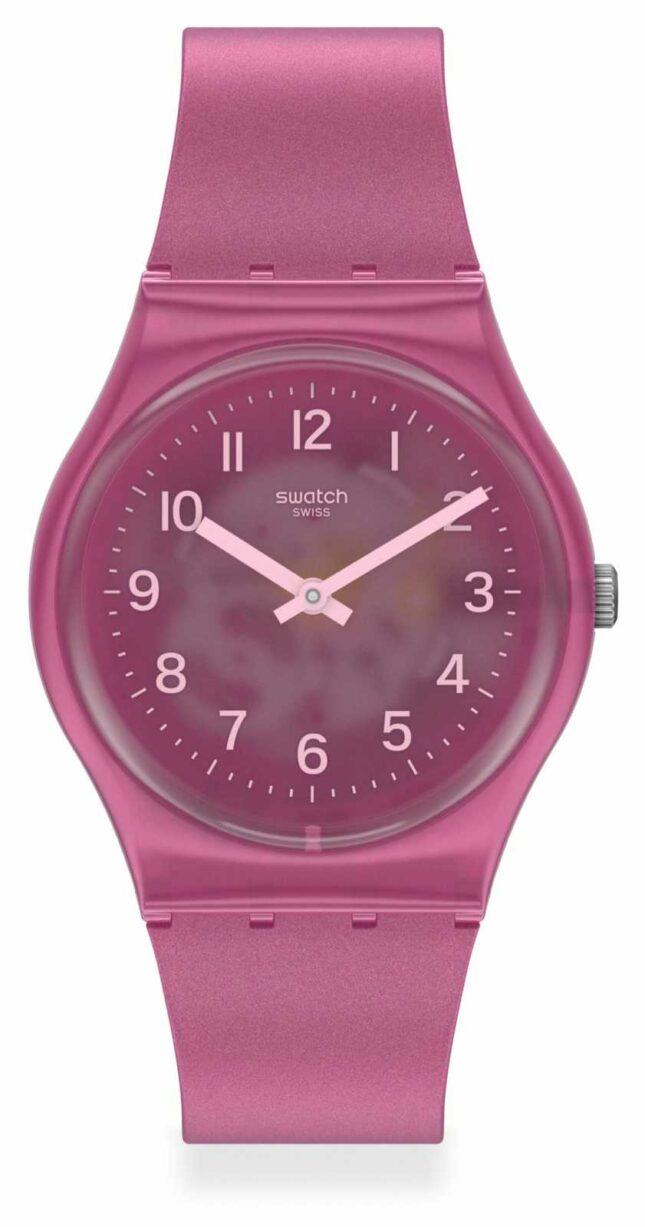 Swatch BLURRY PINK | Pink Silicone Strap | GP170