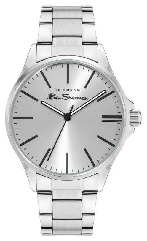 Ben Sherman Men's Silver Stainless Steel Bracelet Silver Dial BS048SM
