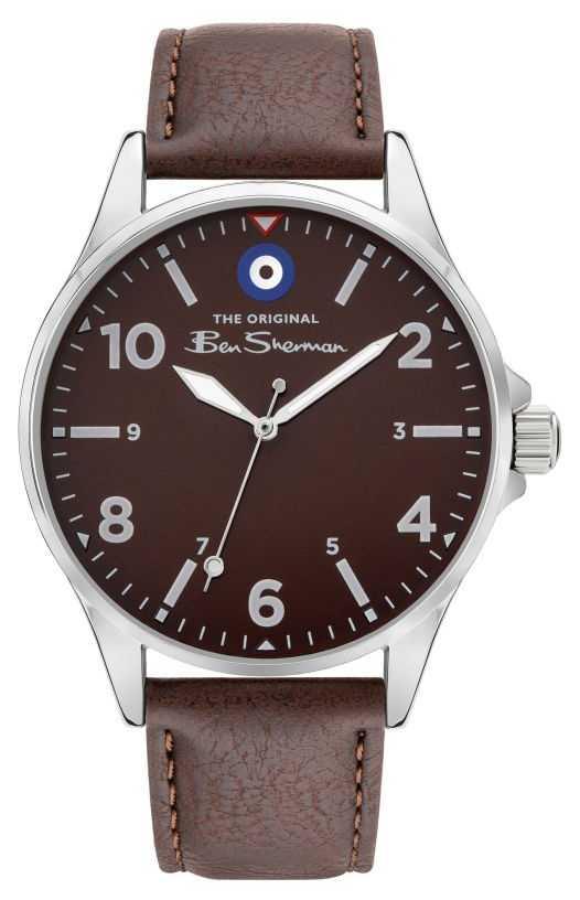Ben Sherman Men's Brown PU Leather Strap   Brown Dial BS053BR