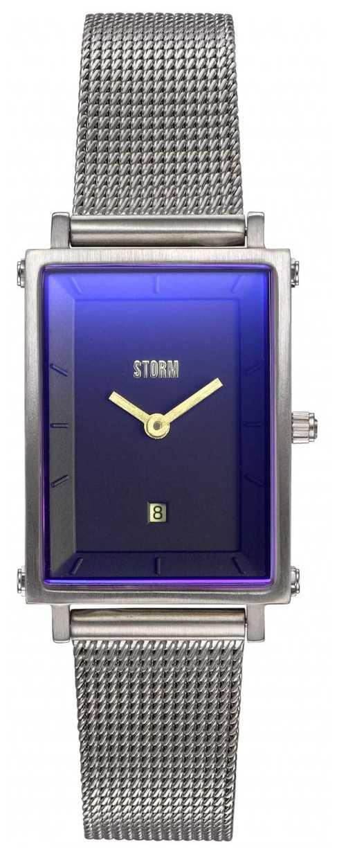 STORM   Issimo Lazer Blue   Silver Steel Mesh Bracelet   Blue Dial   47489/B