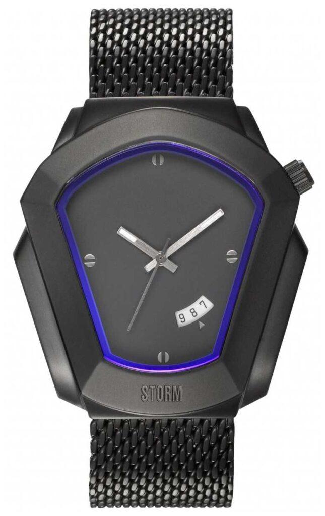STORM | Cyrex Slate | Black Steel Mesh Bracelet | Black Dial | 47488/SL
