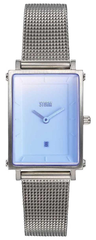 STORM Issimo Ice Blue   Silver Steel Mesh Bracelet   47489/IB