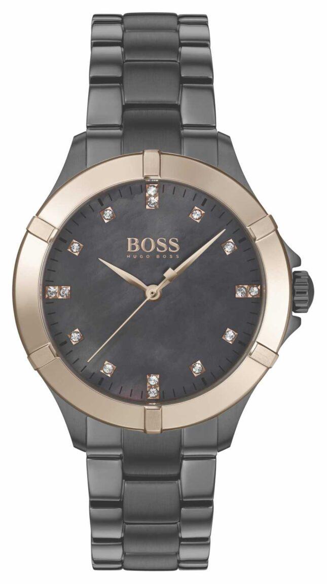 BOSS | Women's Mini Sport | Grey Steel Bracelet | Mother Of Pearl 1502470