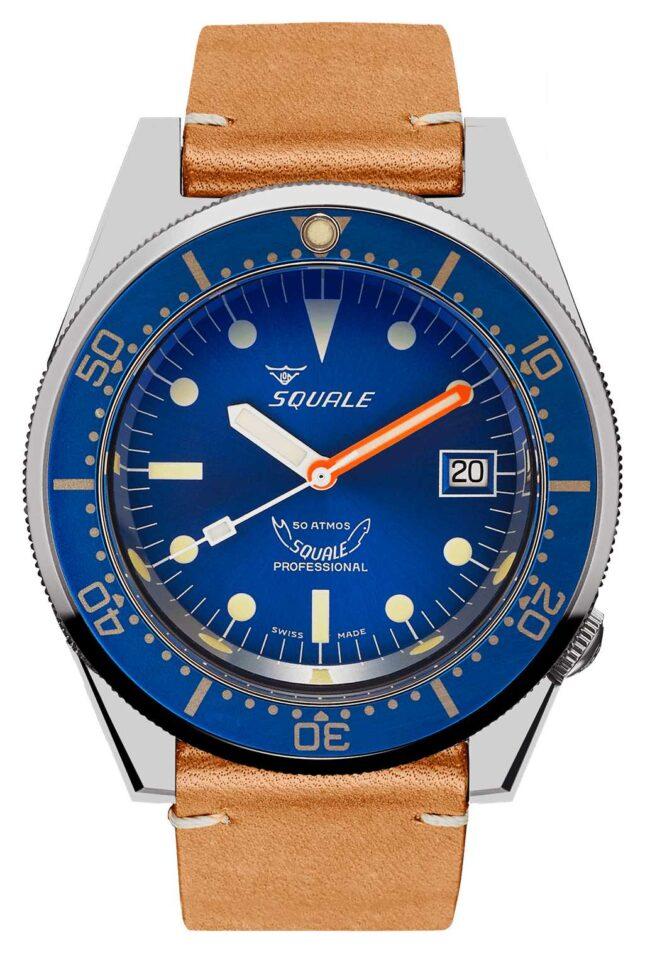 Squale OCEAN | Automatic | Blue Dial | Brown Vintage Leather Strap 1521OCN.PC-CINVINTAGE