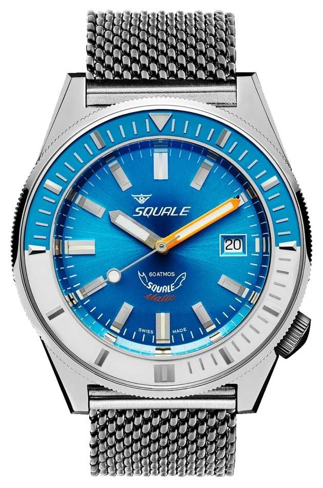 Squale MATIC LIGHT BLUE MESH | Automatic | Blue Dial | Stainless Steel Mesh Bracelet MATICXSE.ME22-CINSS22