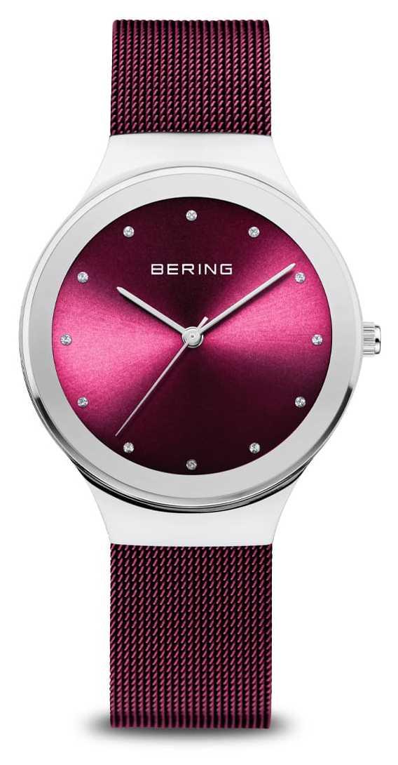 Bering Classic | Women's | Polished Silver | Purple Mesh 12934-909