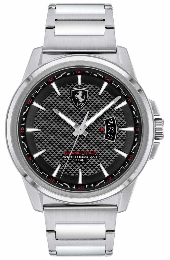 Scuderia Ferrari Men's Grand Tour | Stainless Steel Bracelet | Black Dial 0830834