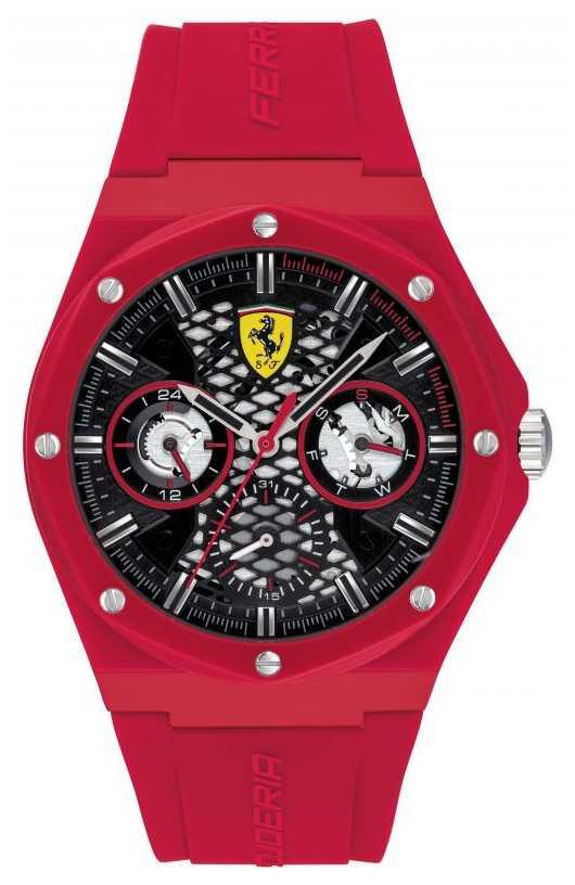 Scuderia Ferrari Aspire | Red Silicone Strap | Black Dial 0830786