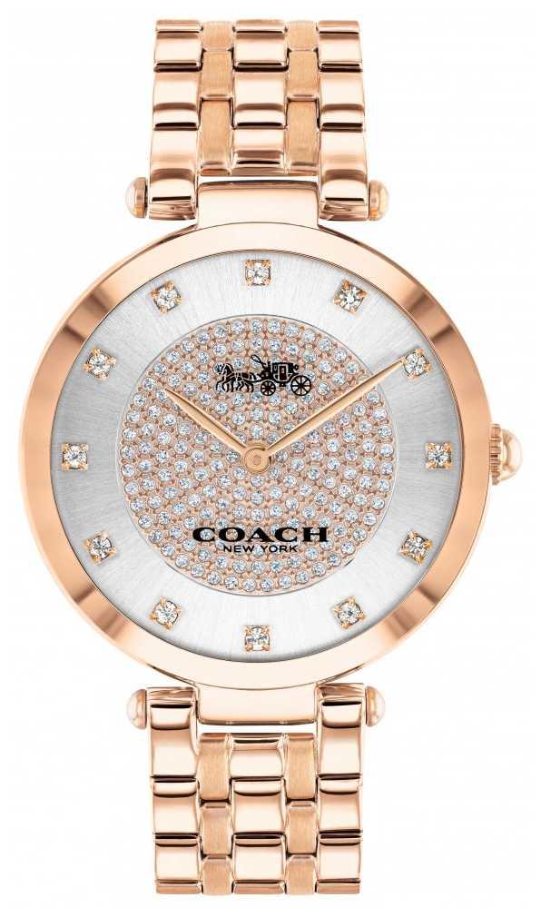 Coach Women's Park   Rose Gold Plated Steel Bracelet   White Dial 14503735