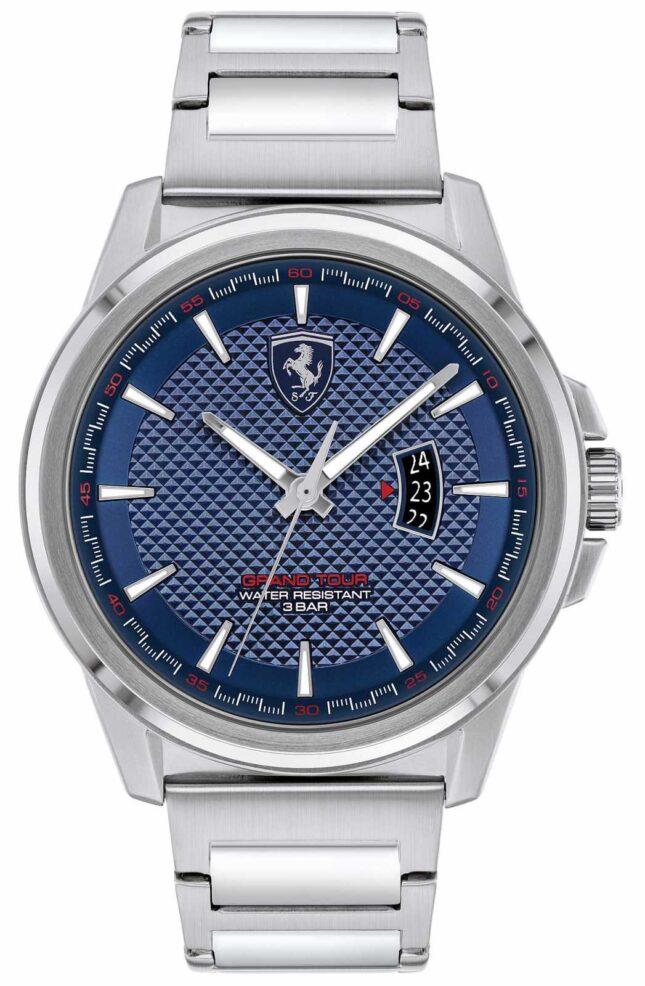 Scuderia Ferrari Men's Grand Tour | Stainless Steel Bracelet | Blue Dial 0830835