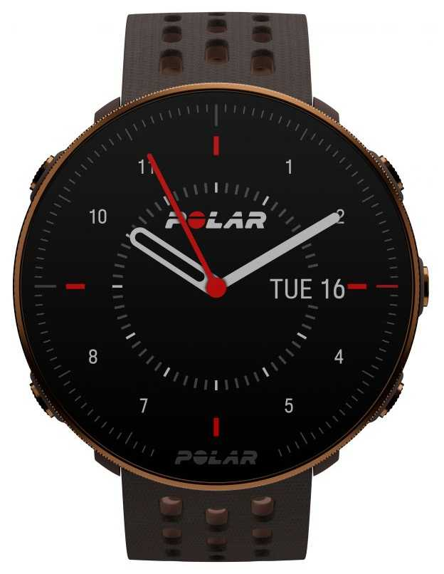 Polar Vantage M2 | Brown Silicone Strap | Copper Case | 90085163