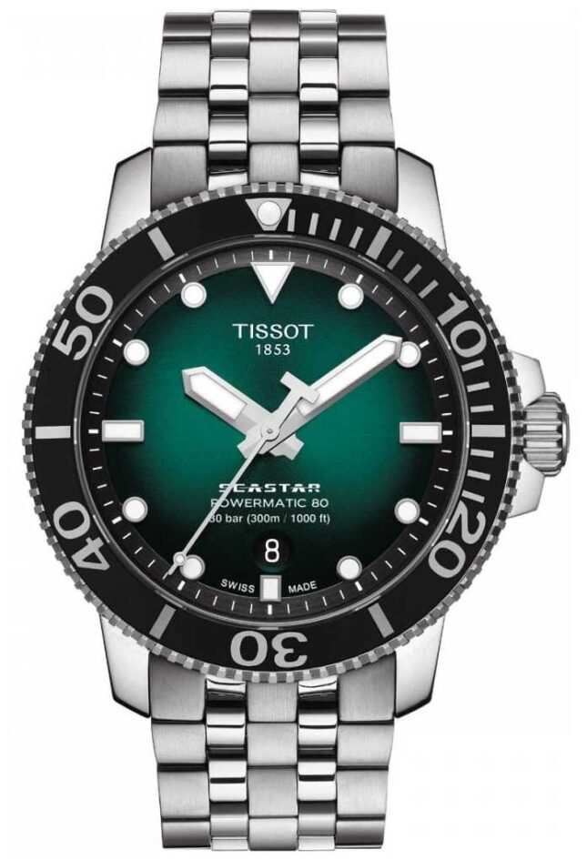 Tissot Seastar 1000 | Powermatic 80 | Green Dial | Stainless Steel T1204071109101