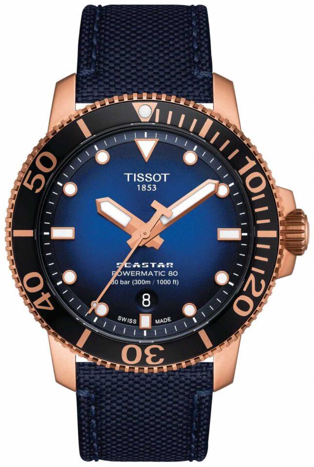 Tissot Seastar 1000 | Powermatic 80 | Blue Dial | Blue Fabric T1204073704100
