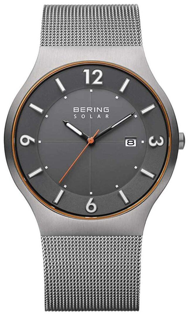 Bering Solar   Men's   Grey Steel Mesh Bracelet 14440-073-A