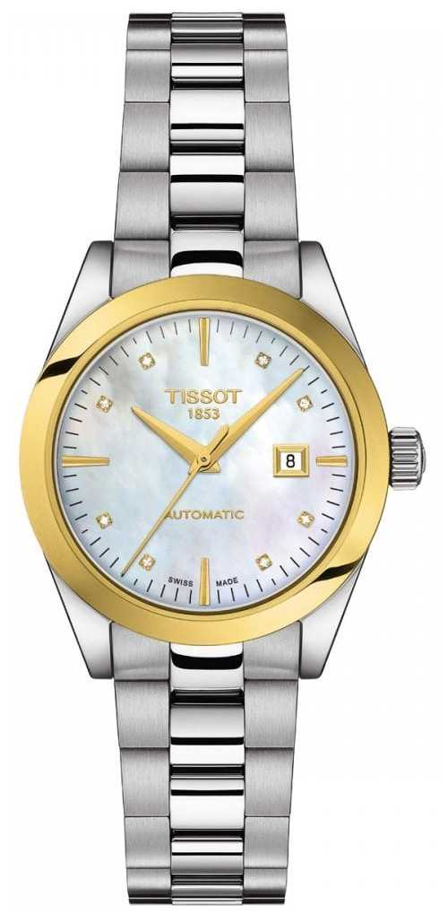Tissot T-My Lady | 18k Gold | Auto | MOP Dial | Stainless Bracelet T9300074111600