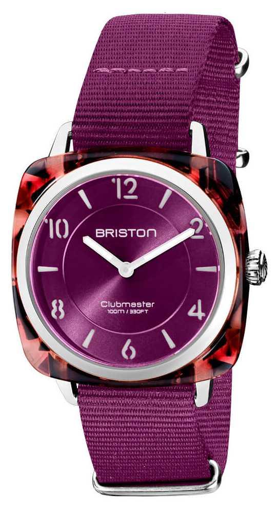 Briston Clubman Chic | Rose Gold 36mm Cardinal Dial | Cardinal Nato Strap 21536.PRA.UR.32.NC