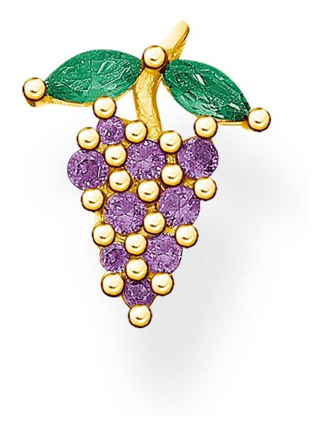 Thomas Sabo Gold Plated Grapes Single Ear Stud H2189-472-7