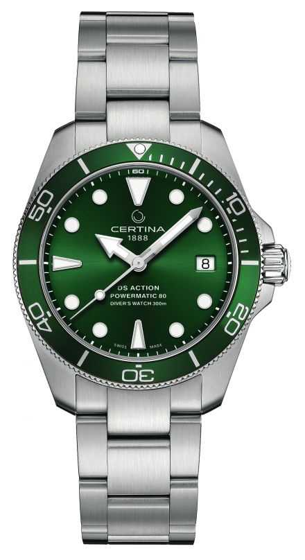 Certina DS Action Diver | Green Dial | Stainless Steel Bracelet C0328071109100