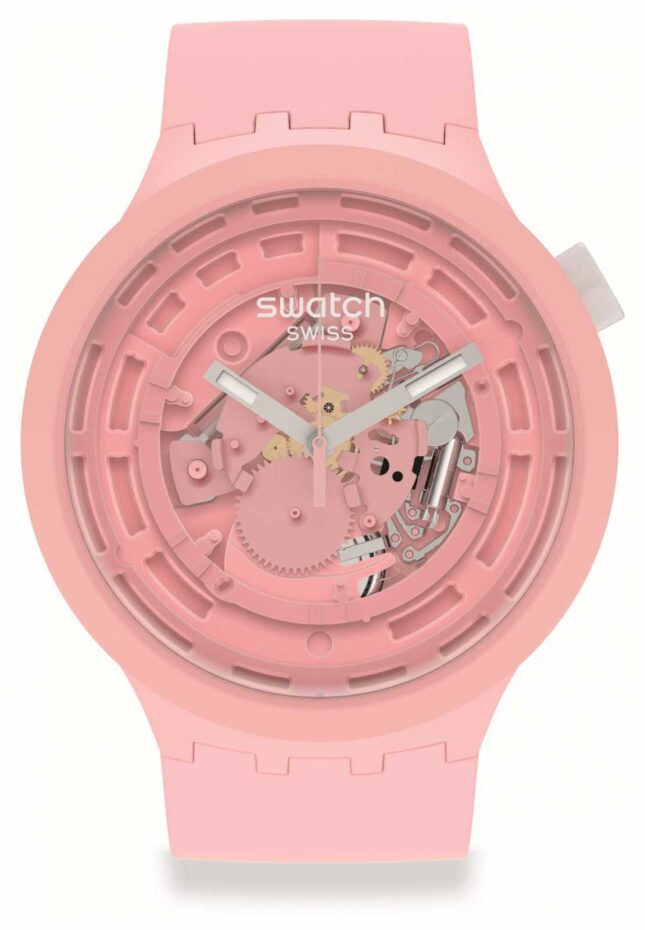 Swatch BIG BOLD NEXT C-PINK | Pale Pink Silicone Strap SB03P100