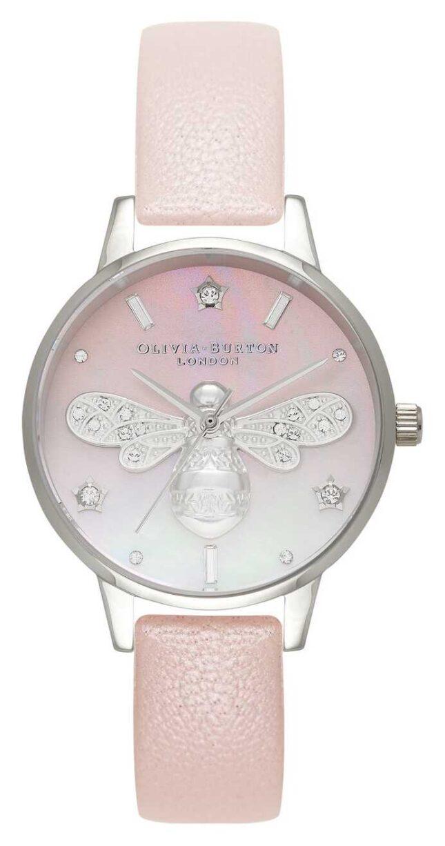 Olivia Burton Sparkle Bee Midi Pearl Pink And Silver OB16GB09